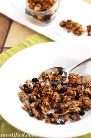 crunchy banana maple nut free granola meatified