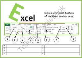 microsoft excel toolbar from computer u0026 ict lesson plans on