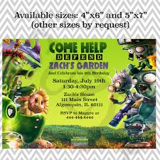 army birthday invitations a plants vs zombies garden warfare kid u0027s