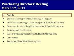 agenda bureau purchasing directors meeting march 17 agenda bureau of