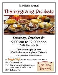sechelt annual thanksgiving pie sale my coast now