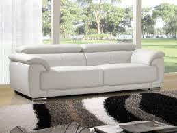 canapé 3 places cuir blanc canapé cuir blanc a propos de canapé 3 places en cuir marjorie