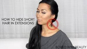 in extensions how to hide hair in extensions