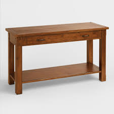 Wooden Coffee Table With Drawers Madera Coffee Table World Market