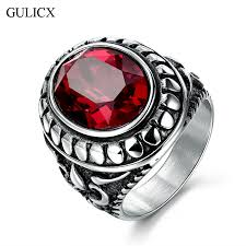 stainless steel rings for men online shop gulicx fashion white gold color stainless steel ring