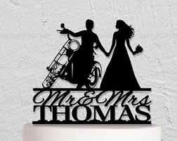 motorcycle wedding cake toppers motorcycle wedding etsy