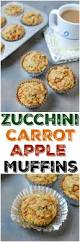 zucchini carrot apple muffins healthy muffin recipe