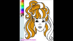 barbie color and paint barbie coloring games youtube