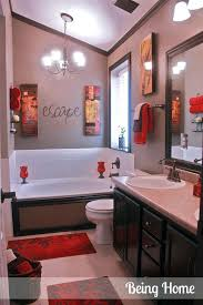 Red And Black Bathroom Decorating Ideas Brown And Red Bathroom Ideas Bold Design With Pictures 3