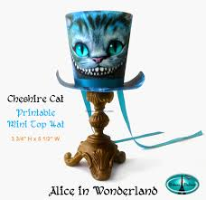 printable mad hatter top hat cheshire cat mini top hat
