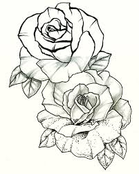 download rose tattoo line art danielhuscroft com
