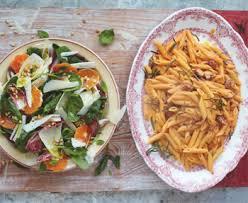 jamie oliver u0027s chorizo carbonara with catalan market salad recipe