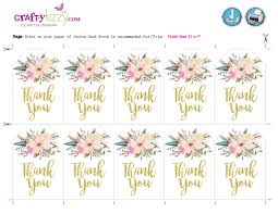 thank you tags watercolor floral thank you tags baby shower bridal shower thank