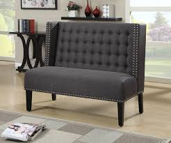 Banquette Salon Design by Amazon Com Pulaski Katherine Settee Anthracite Kitchen U0026 Dining