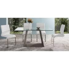 armen living coffee table armen living bravo glass top rectangular dining table in dark sonoma
