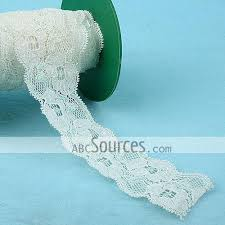wholesale lace ribbon wholesale stretch white lace ribbon 5cm lc101211124