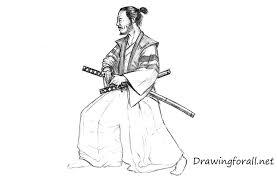 how to draw a samurai drawingforall net