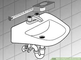 How To Change A Faucet In The Bathroom How To Replace A Bathroom Sink 14 Steps With Pictures Wikihow
