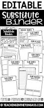 White Design by Best 25 Sub Binder Ideas On Pinterest Substitute Binder