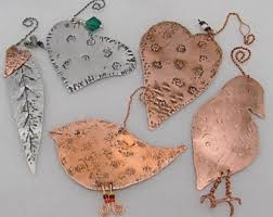 copper ornaments etsy