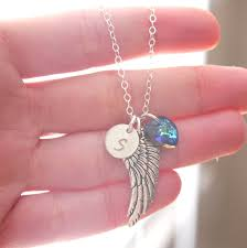 Personalized Remembrance Gifts Personalized Angel Wing Necklace Memorial Necklace Remembrance