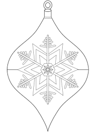 christmas ornament coloring free printable coloring pages