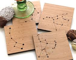 tree ornament fox snowflake фанера wood coasters