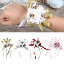 bridesmaid corsage wrist corsage flowers petals garlands ebay