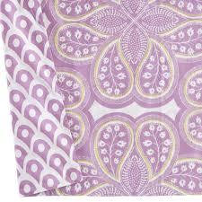 mosaic paisley crib skirt lavender the land of nod