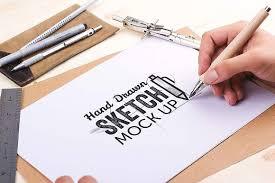 hand drawn sketch mock up pack product mockups creative market