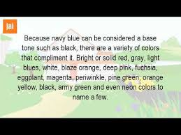 what colors go well with dark blue youtube