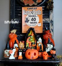 chippy shabby vintage halloween gurley candles