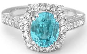 white zircon rings images Blue zircon diamond ring with lattice gallery in 14k white gold jpg