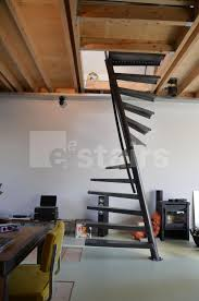square spiral staircase metal steps without risers tss 067