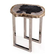 petrified wood end table end table in petrified wood mf products enterprise llc
