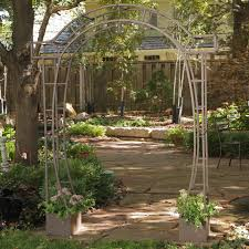Metal Arbors Garden Garden Arbor With Gate Intended For Brilliant Styles Of