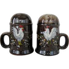 japan rooster salt and pepper shakers from thedaisychain on ruby lane