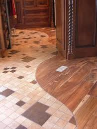 Types Of Kitchen Flooring by Transition From Tile To Wood Design Ideas Pictures Remodel And