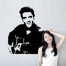 aliexpress buy elvis play guitar home decal wall