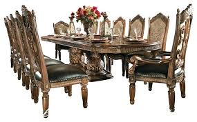 dining room table set with chairs dining table for 8 8 piece villa dining room table set with china