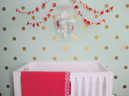 gallery roundup gold polka dot wall decals project nursery