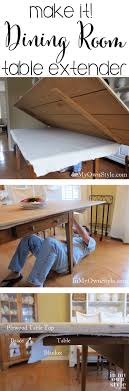 Dining Room Table Extender How To Enlarge A Dining Room Table For Seating In My Own Style