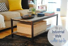 Glass And Wood Coffee Tables by Diy Modern To Industrial Style Coffee Table Jenna Burger