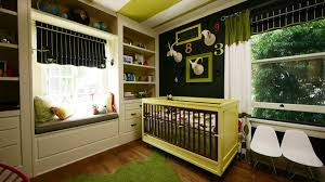 delightful baby room design ideas with white wooden crib and
