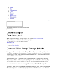 sample cause and effect essay download cause effect essay teenage suicide docshare tips