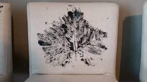 wanna b gourmande diy canvas leaf print chair