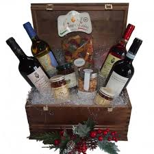 wine and gift baskets christmas wine gift basket