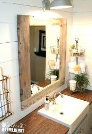 Reclaimed Wood Bathroom Mirror Small Bathroom Mirror Oak Frame Framed Mirrors Reclaimed Wood