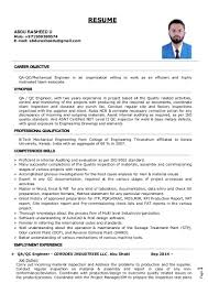career objective for mechanical engineer resume cv abdu rasheed u