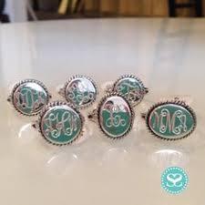 monogram ring silver monogrammed sterling silver post earrings scripts